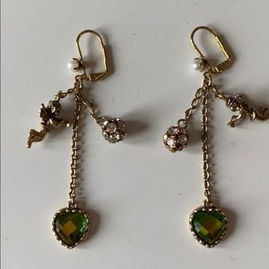 Betsy Johnson French wire angel earrings